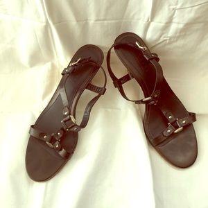 Talbots collection, Black Sandal, Size 9